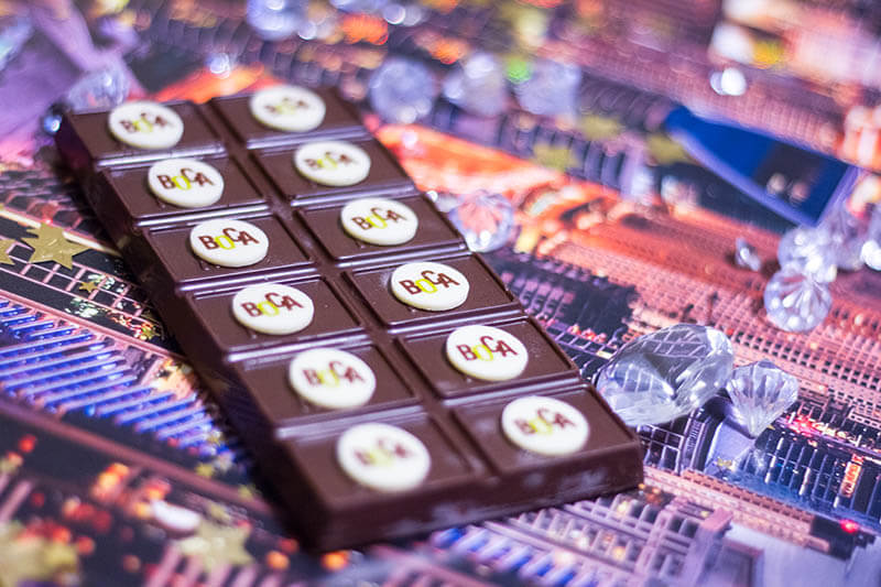Chocolate Bars Decorated with Small Bars