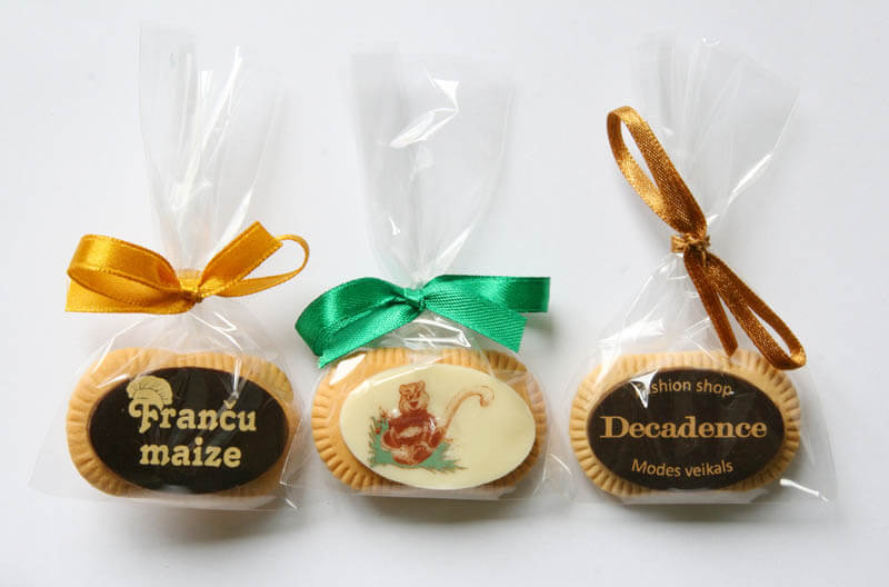 Chocolate Biscuits - Coffee Biscuit with Chocolate in a Polybag with ribbon, 5g