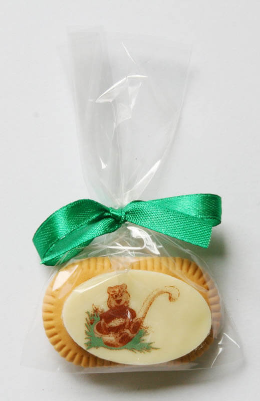 Chocolate Gifts - Coffee Biscuit with Chocolate in a Polybag with ribbon, 5g