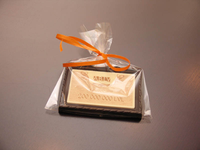Bank Marketing - Framed Chocolate Picture in a Polybag with Ribbon, 90g
