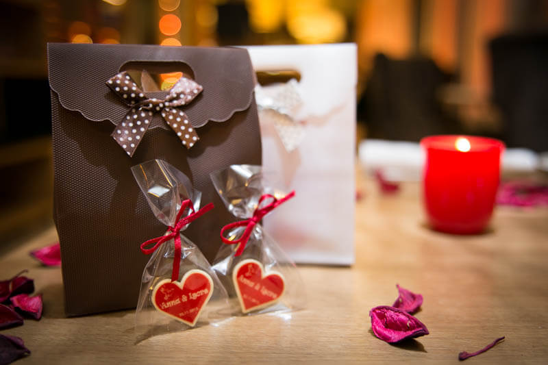 Promo Sweets - Chocolate Heart in a Bag with Ribbon, 3g