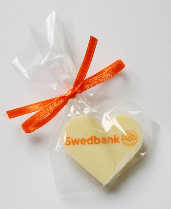 Bank Marketing - Chocolate Heart in a Bag with Ribbon, 3g