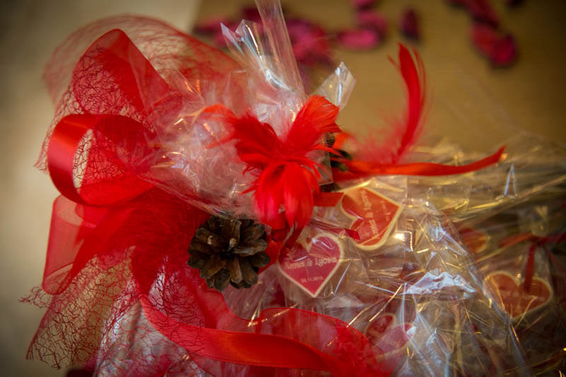 Chocolate Heart in a Bag with Ribbon, 3g