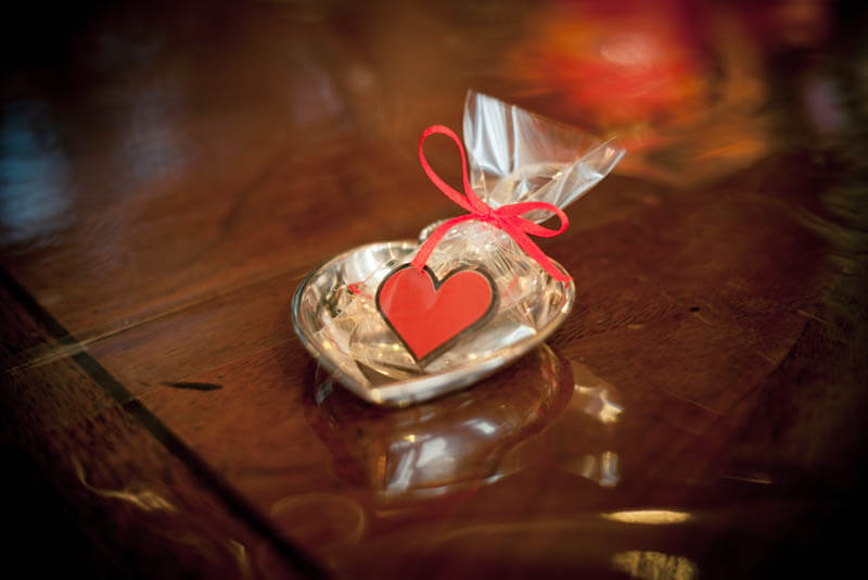 Chocolate Gifts - Chocolate Heart in a Bag with Ribbon, 3g