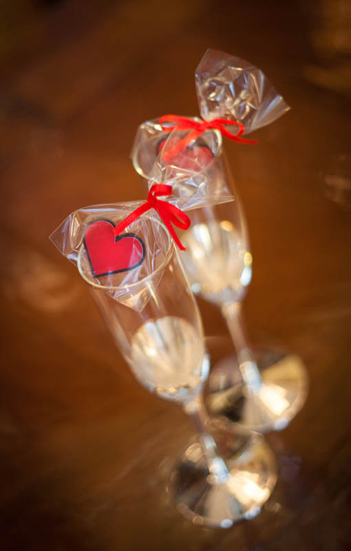 Chocolate Hearts - Chocolate Heart in a Bag with Ribbon, 3g
