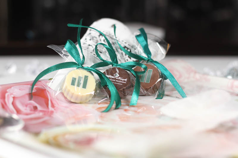 Printing - Praline with Hazel Nut Cream Filling in a polybag with Ribbon, 13g