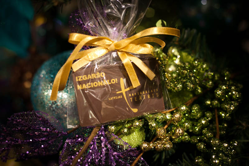 Personalized Chocolate - Promotional Chocolate Bar in a Polybag with Ribbon, 20g