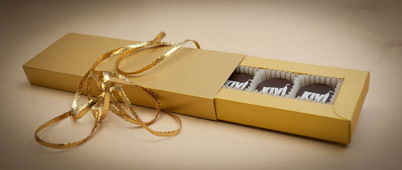 5 Pralines with Hazel Nut Cream Filling in a box, 65g (13g x 5 pc)