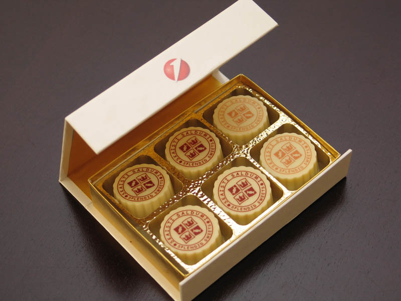 6 Pralines with Hazel Nut Cream Filling in a Box with Magnet, 78g (13g x 6 pc)