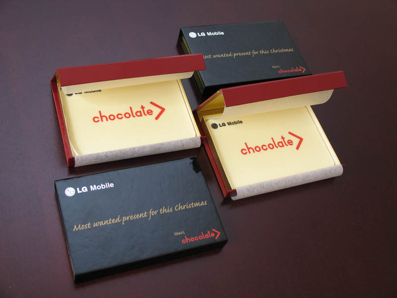 Personalized Chocolate - Promotional Chocolate Bar in a box with magnet, 80g