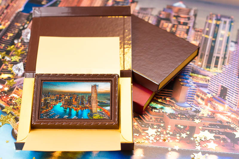 Framed Chocolate Picture in a box with magnet, 90g