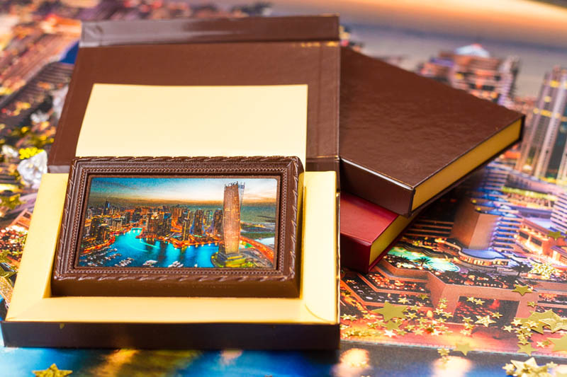 Chocolate Book - Framed Chocolate Picture in a box with magnet, 90g
