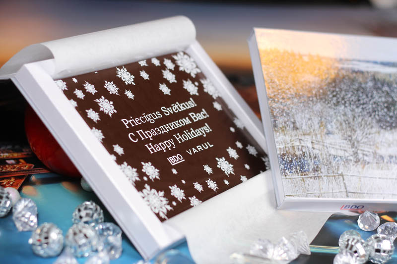 Personalised Chocolate Bars - Promotional Chocolate Bar in a box with magnet, 275g