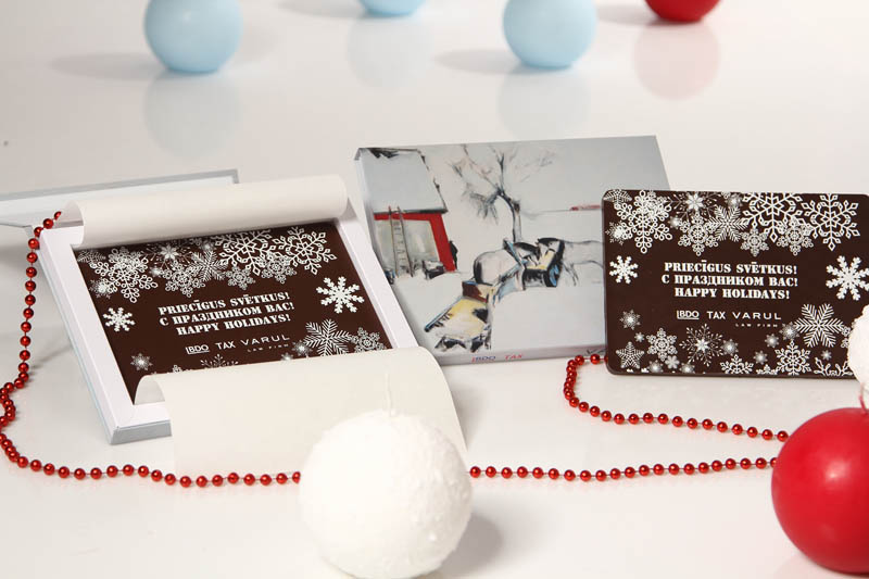 Promotional Chocolate Bar in a box with magnet, 275g