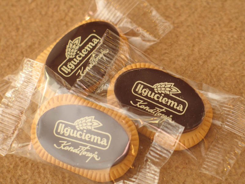 Coffee Biscuit with Chocolate in a Polybag, 5g