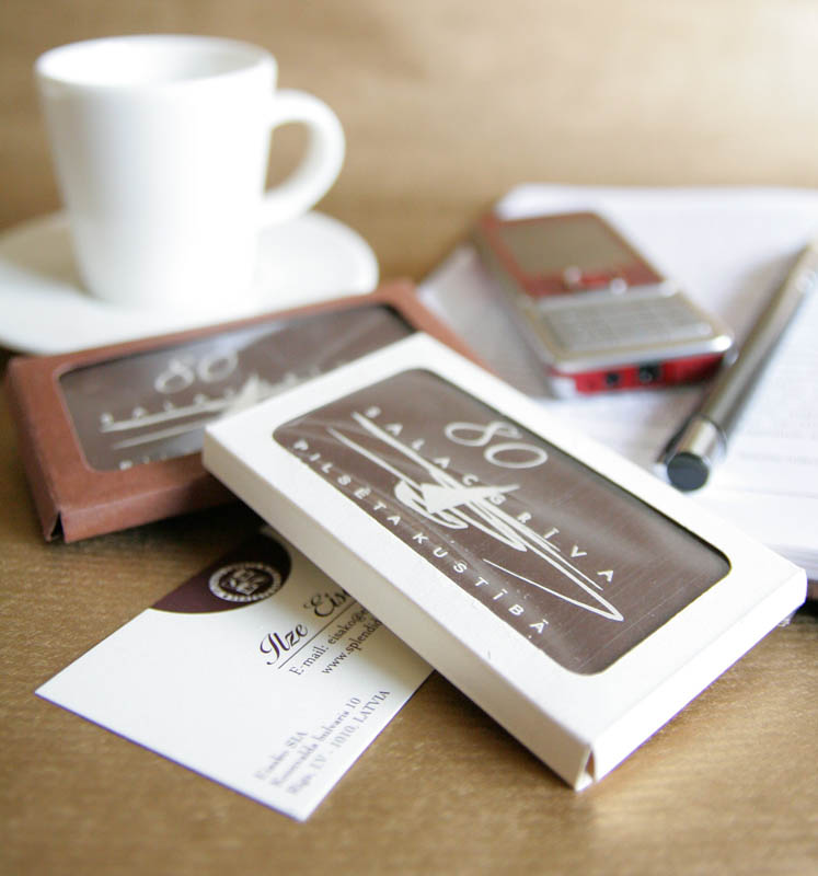 Printing On Chocolate - 20g Promotional Chocolate Bar in a box