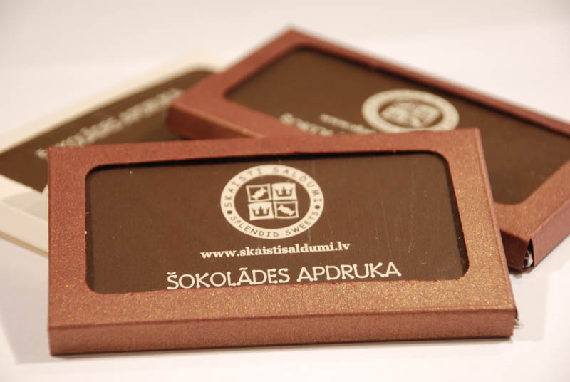 Chocolate Business Cards - Promotional Chocolate Bar in a box, 20g