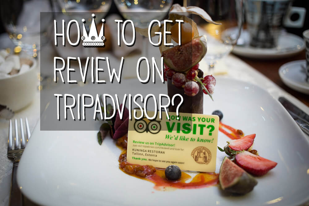 Creative way to get customers to leave review on TripAdvisor